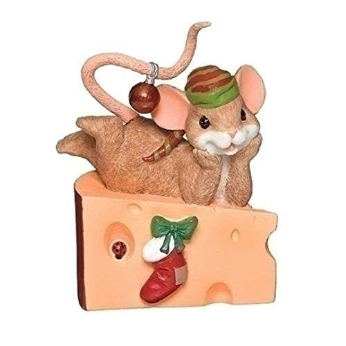 Roman 3 Inches Cheese Wedge Mouse Figurine