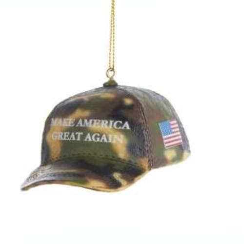 Kurt Adler D3483 Camouflage Make America Great Again Hat Ornament