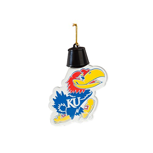 Team Sports America University of Kansas Radiant Lit Acrylic Team Icon Ornament