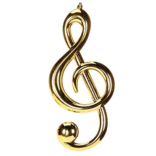 Christmas Ornament Gold Musical Note Ornament Clef 12 inch 33-44300-C