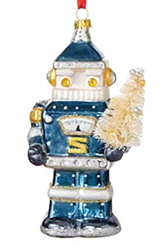 Holiday Lane Spaced Out Robot Santa Ornament