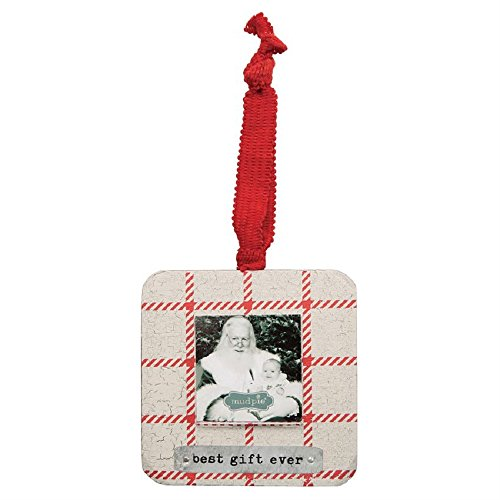 Mud Pie Wood and Tin Best Gift Frame Ornament