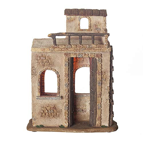 Fontanini, Nativity Building, Lighted Bethlehem Inn, 7.5″ Scale, Collection, Handmade in Italy, Designed and Manufactured in Tuscany, Polymer, Hand Painted, Italian, Detailed