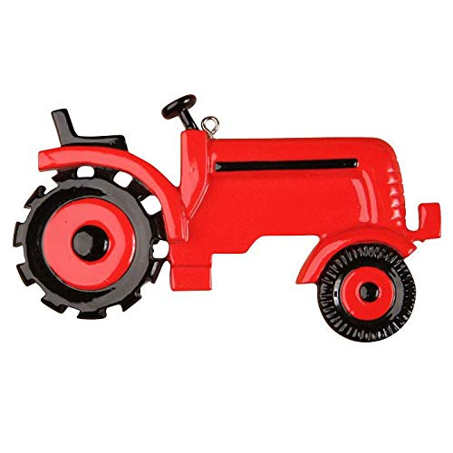 Polar X Red Tractor Personalized Christmas Ornament