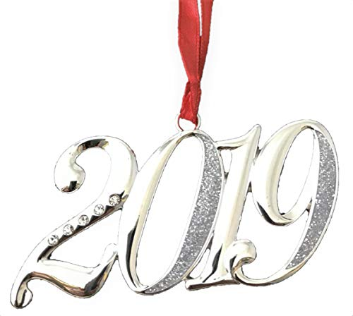 Yearly Milestone 2019 Silver Plated Hanging Ornament