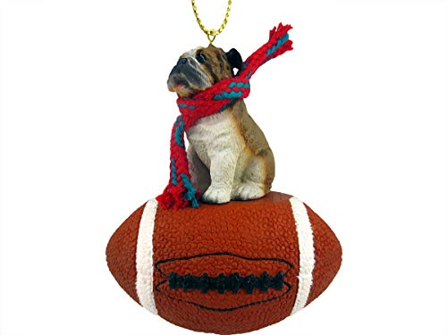 Conversation Concepts Bulldog Football Ornament