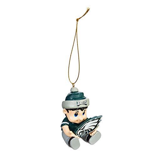 Team Sports America NFL Philadelphia Eagles Remarkable Adorable Lil Fan Christmas Ornament – 2″ Long x 2″ Wide x 3″ High