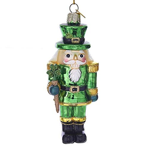 Kurt Adler Noble Gems Glass Irish Nutcracker Ornament