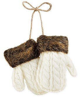 Holiday Lane Mittens with Faux Fur Ornament
