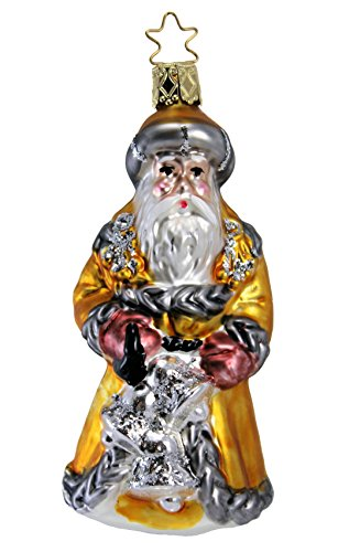 Inge-Glas Santa Ringing in The Christmas Season 1-020-01 German Christmas Ornament