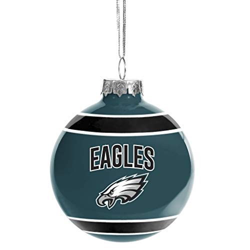 FOCO Philadelphia Eagles Glass Ball Ornament – Limited Edition Eagles Ornament – Represent The NFL and Show Your Team Spirit with Officially Licensed Philadelphia Football Holiday Fan Decorations