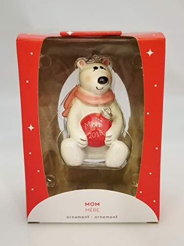 Carlton Heirloom Ornament 2018 Mom – Polar Bear in Scarf – #CXOR016O