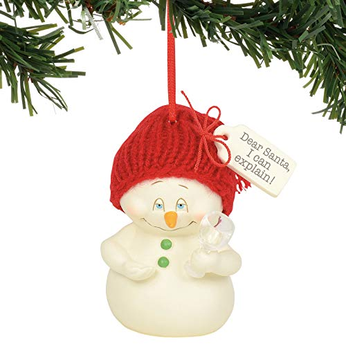 Department 56 Snowpinions Dear Santa I Can Explain Hanging Ornament, 3 Inch, Multicolor