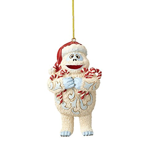 Department56 Enesco Jim Shore Rudolph Traditions 6001597 Bumble Holding Candy Canes Nanging Ornament