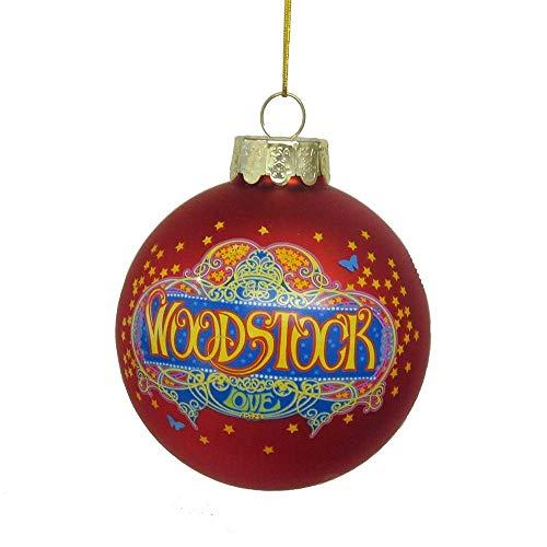Kurt Adler Woodstock Glass Ball Decorative Hanging Ornament