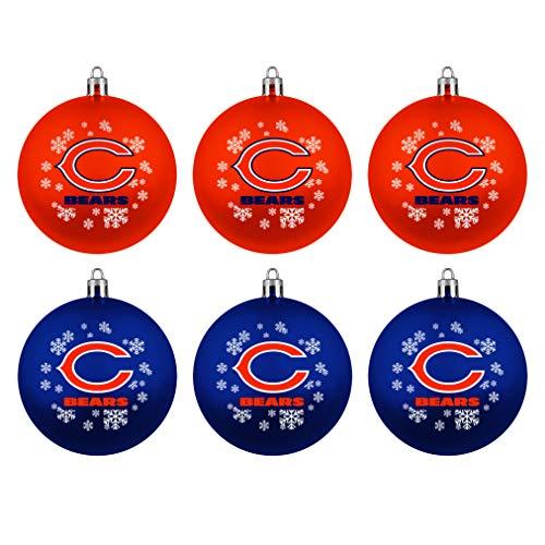 Topperscot Boelter Brands Chicago Bears Home & Away Shatter Proof Ball Ornament Gift Set of 6