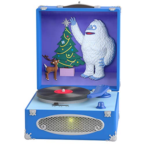 Hallmark Keepsake Ornament 2019 Year Dated Red-Nosed Reindeer Record Player with Light and Sound (Plays Christmas), Holly Jolly Rudolph