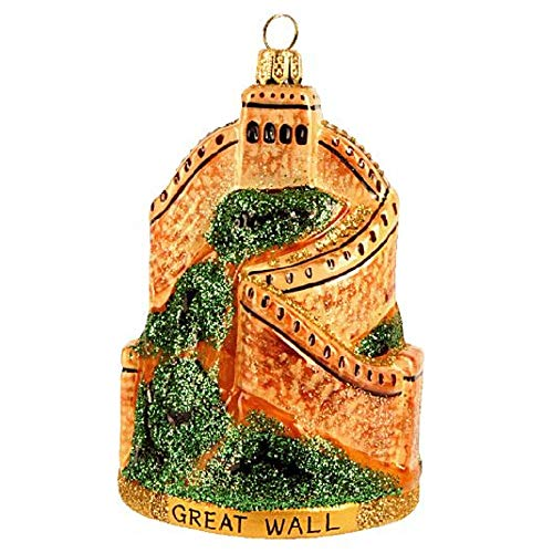 Pinnacle Peak Trading Company The Great Wall of China Poland Glass Christmas Ornament Made Poland Decoration