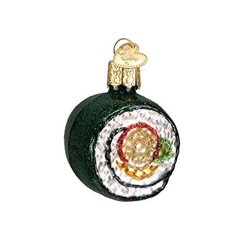 Old World Christmas Ornaments: Sushi Roll Glass Blown Ornaments for Christmas Tree (32110)