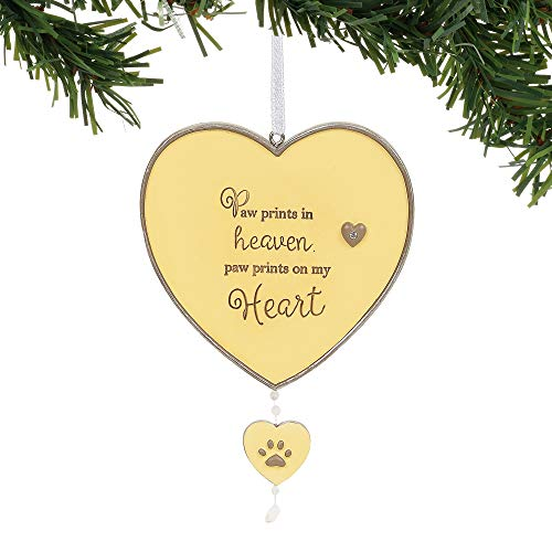 Enesco Foundations Paw Prints in Heaven Dog Bereavement Hanging Ornament, 4.75 Inch, Multicolor
