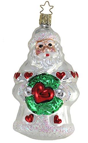 Inge-Glas Santa Loves You 1-027-01 German Glass Christmas Ornament Gift Box