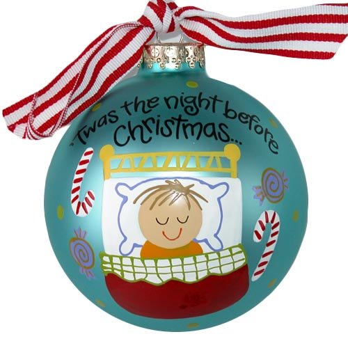 Boy, Night Before Christmas Ornament by Coton Colors