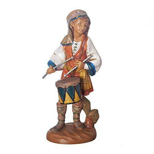 Fontanini, Nativity Figure, Jareth The Drummer Boy, 7.5″ Scale