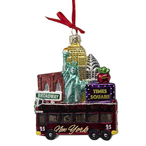 Kurt Adler 4.75-inch New York Cityscape Glass Ornament