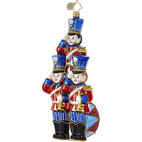 Radko Soldier Trio Strike Up The Band Glass Ornament Made in Poland