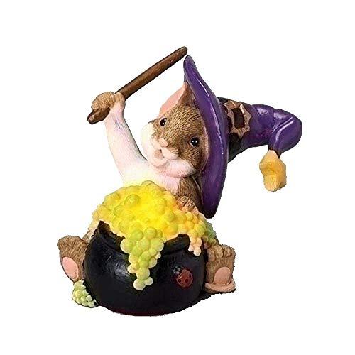 Roman 3 Inches Lit Cauldron Halloween Figurine