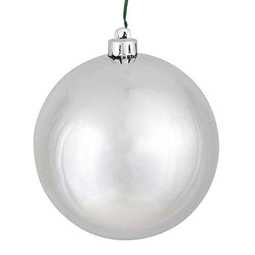 Vickerman 10″ Silver Shiny Ball Ornament