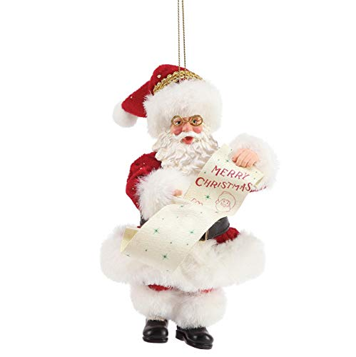 Department 56 Possible Dreams Merry Christmas Personalizable Hanging Ornament, 6 Inch, Multicolor