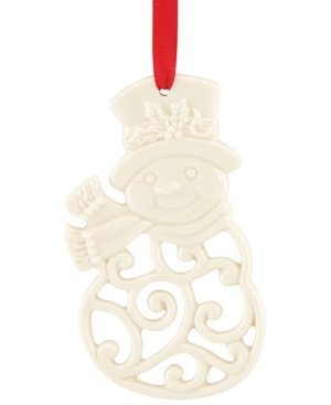 Lenox Pierced Snowman 3-1/2-in Charm Ornament