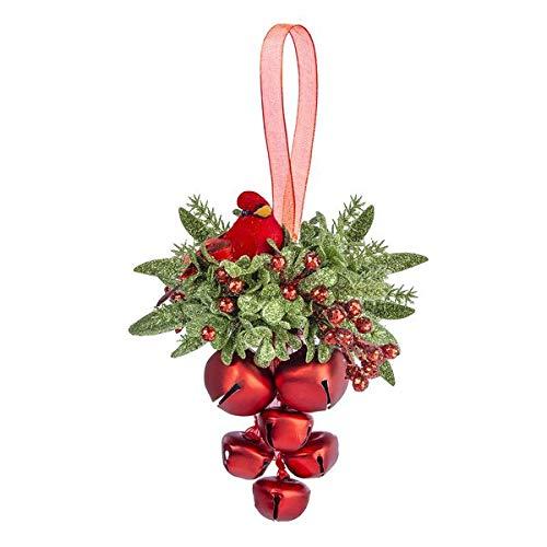 Ganz Cardinal Jingle Bell Cluster Decorative Ornament