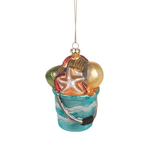 Beachcombers Coastal Life Decorative Beach Ornament with S-Hook (Beach Pail, B21728)