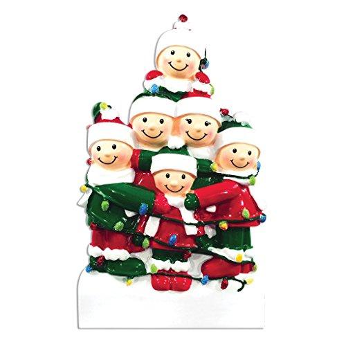 Polar X Tangled in Lights (Family 6) Christmas Ornament
