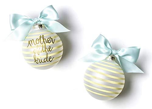 Coton Colors Stripe Mother of The Bride Glass Ornament