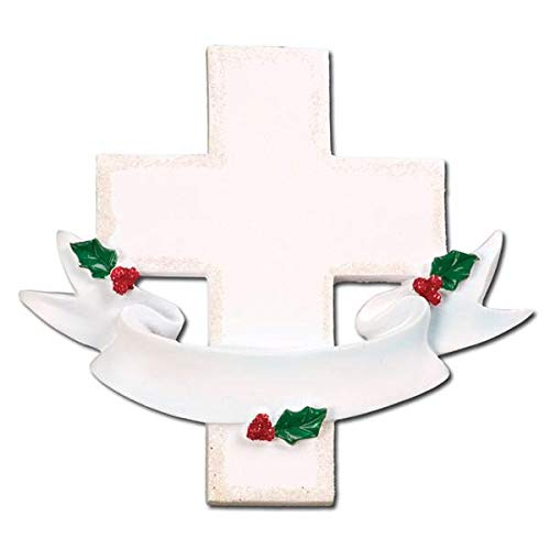 Polar X Memorial Cross Personalized Christmas Ornament