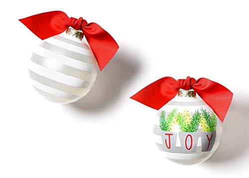 Coton Colors 100 MM Joy Branches Glass Ornament