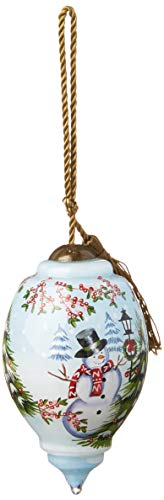 Ne'Qwa Petite Trillion Snowman Winter Scene Ornament, Multi