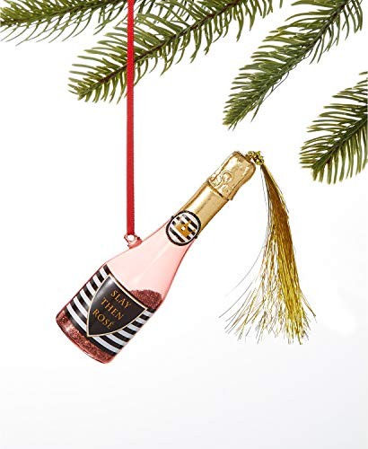 Holiday Lane Pink Popping Champagne Bottle Ornament,