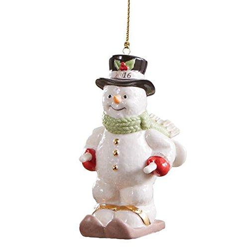 Lenox 2016 Skiing Snowman Annual Ornament