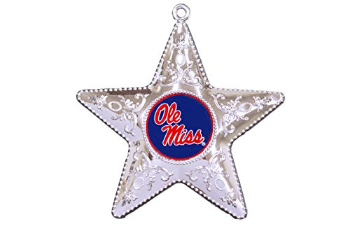 NCAA Ole Miss Rebels Silver Star Ornament