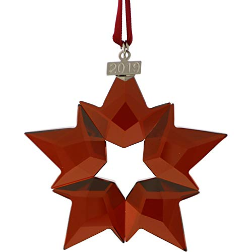 SWAROVSKI Holiday Ornament, A.E. 2019, 7.5 x 7.2 x 0.9 cm, Red