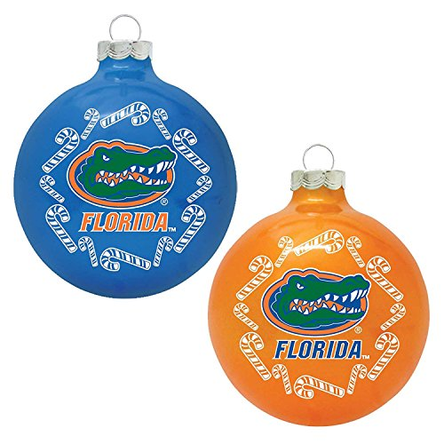Florida Gators 2 Pack Traditional Ornament Set