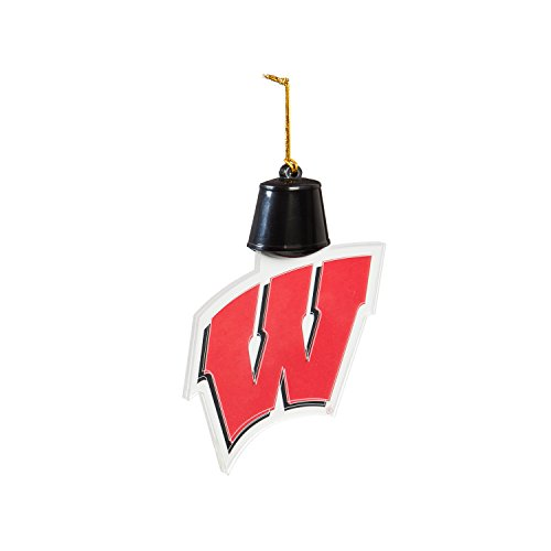 Team Sports America University of Wisconsin-Madison Radiant Lit Acrylic Team Icon Ornament