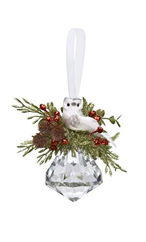 Ganz Acrylic Mistletoe Owl Jewel Hanging Ornaments
