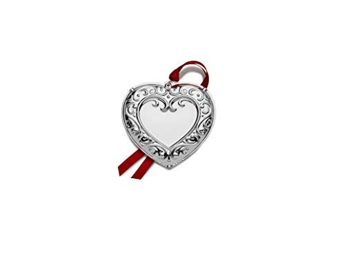 Wallace 2019 Heart Engraveable Ornament, Metal