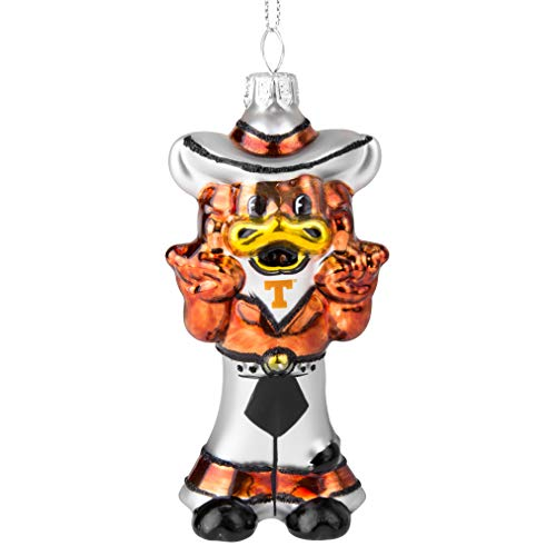 Topperscot NCAA Texas Longhorns Blown Glass Glitter Mascot Holiday Ornament