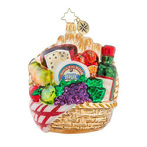 Christopher Radko Pick-Nick For Two! Christmas Ornament